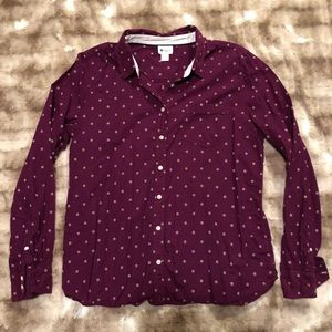 Cute Embroidered Button Down Size XL